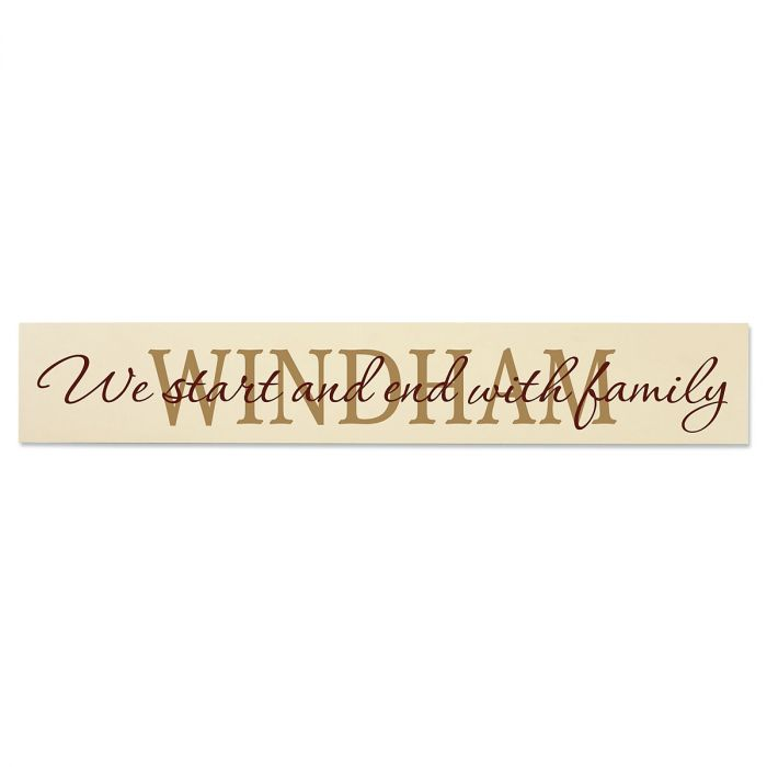 Family Wood Plaque