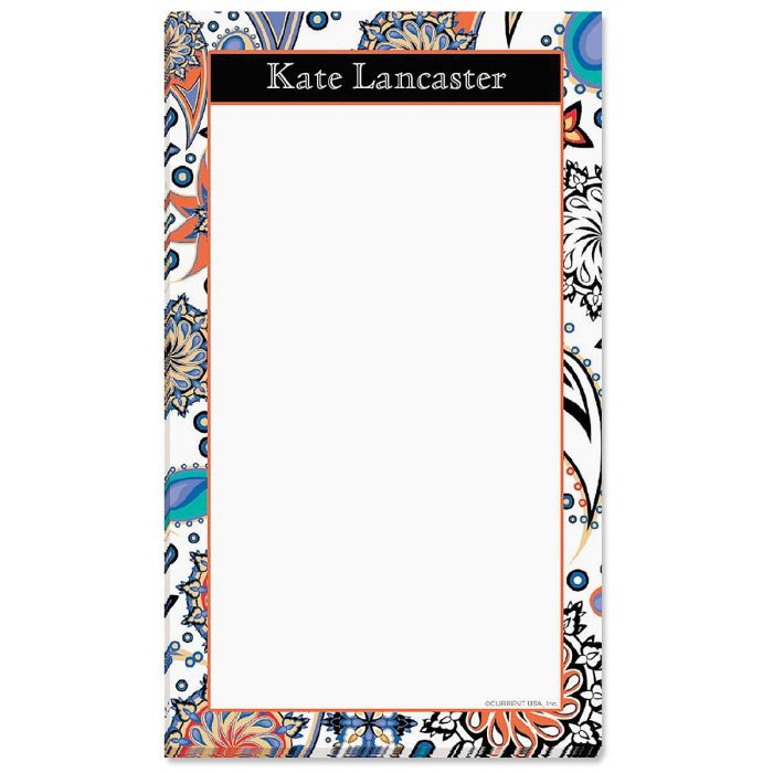 Color Paisley Notepad