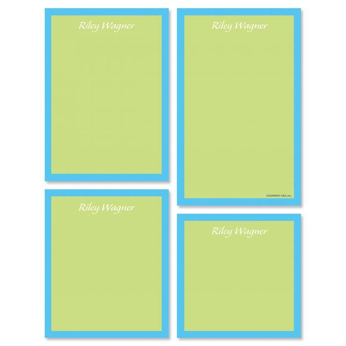 Bordered Hues Notepads-Green-609260C
