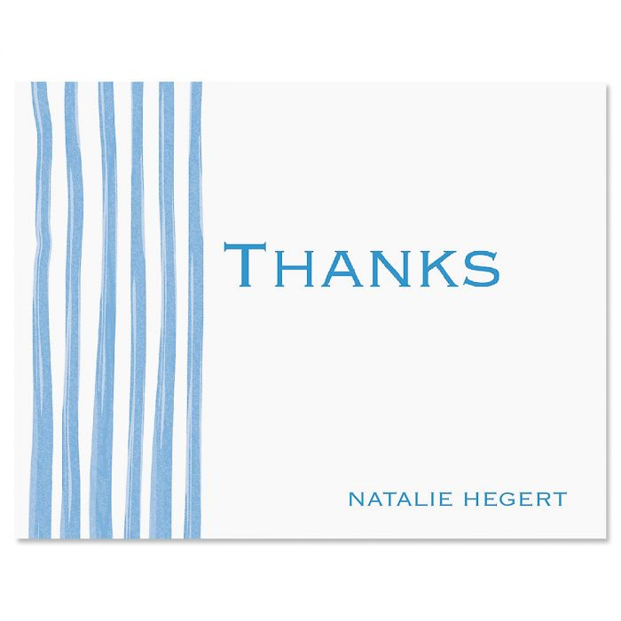Sheer Delight Thank You Card-Blue-609279B