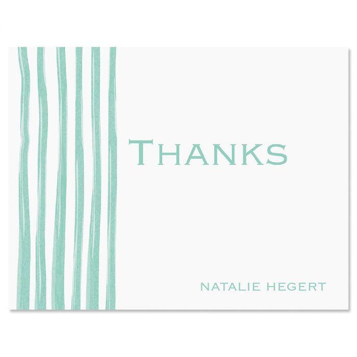 Sheer Delight Thank You Card-Green-609279C