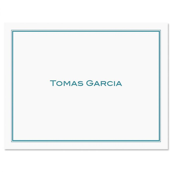 Refined Note Cards-Blue-609290A