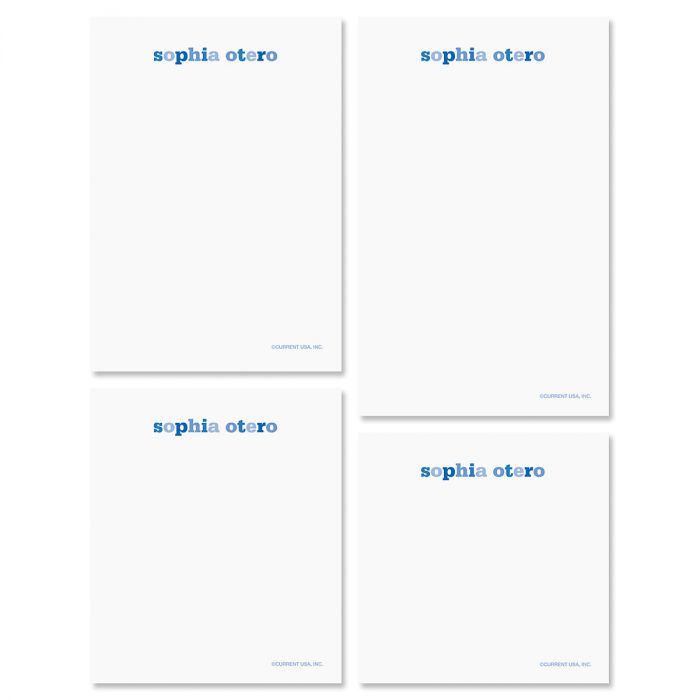 Color Wash Notepads-Blueberry-609300A