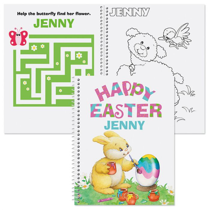 Easter Color & Activity Book-Girl-610239A