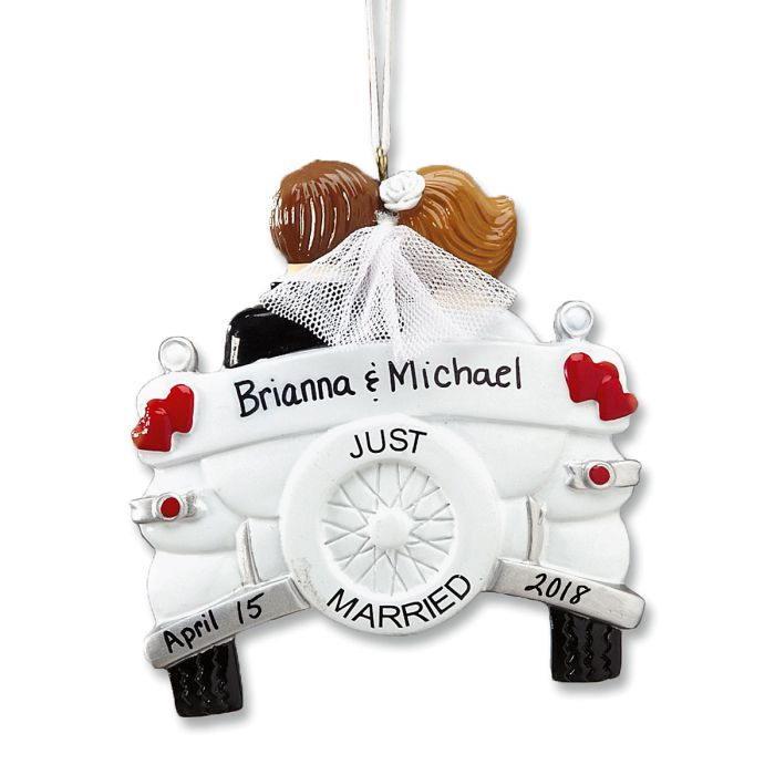 just married wedding personalized ornaments lillian vernon