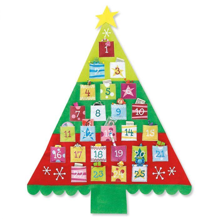 Big Felt Christmas Countdown Tree