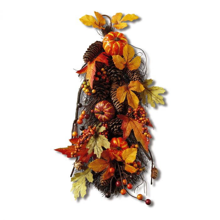 Pumpkin Pinecone Teardrop