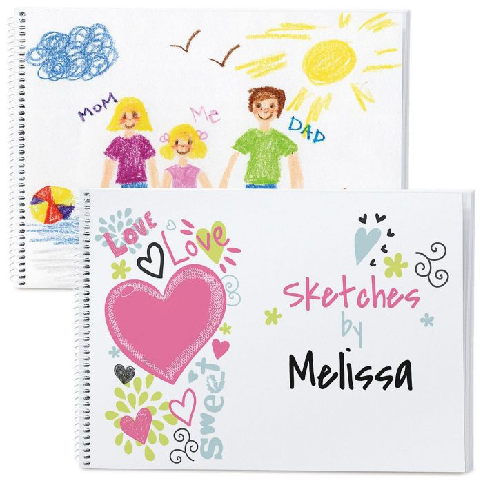 Doodle Town Hearts Sketch Pad