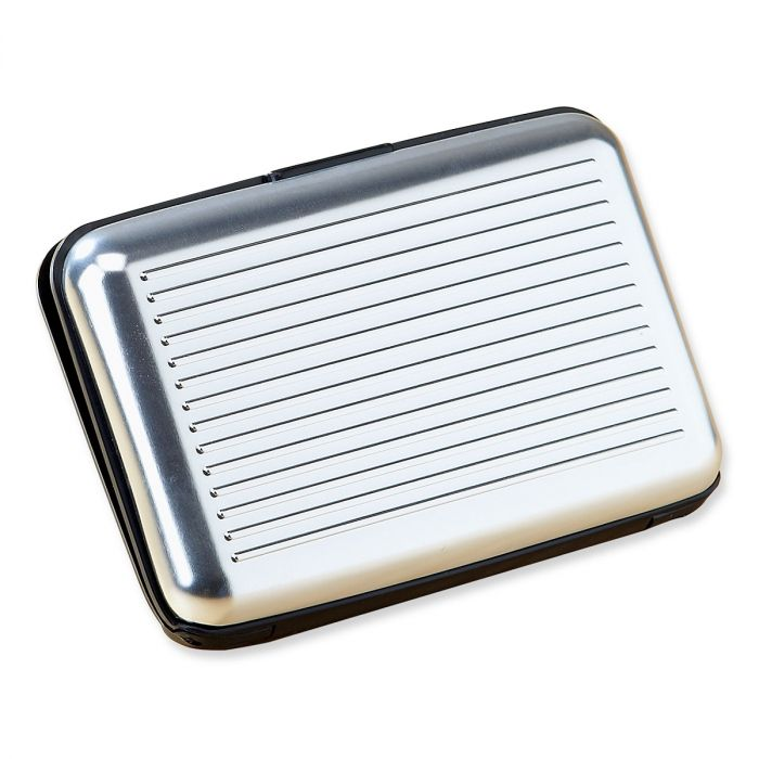 Aluminum Alloy RFID Armored Wallet-Silver-612454A