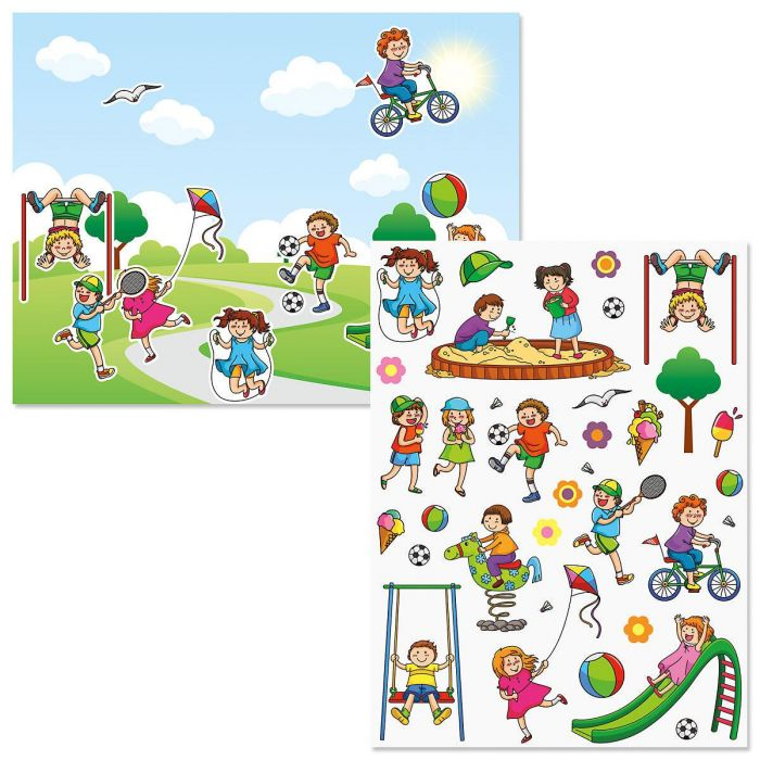 Playground Fun Background Scenes and Stickers