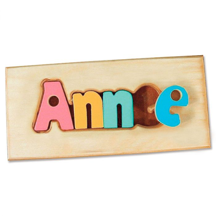 Personalized Name Board Floor Puzzle - Jewel Colors