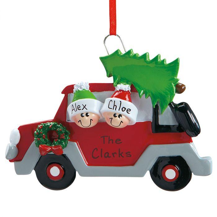Christmas Tree Caravan Christmas Personalized Ornaments