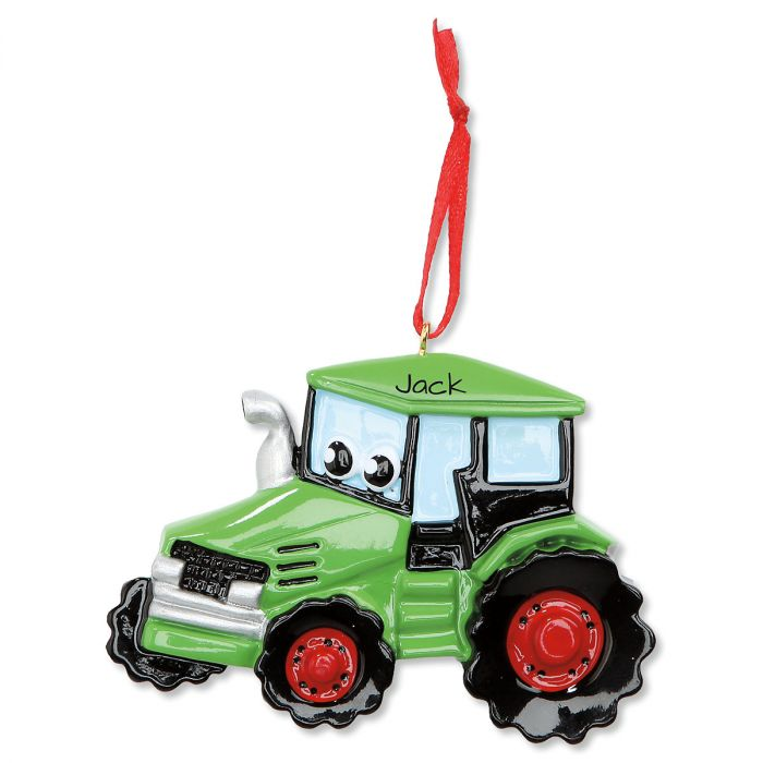 Tractor Personalized Christmas Ornament