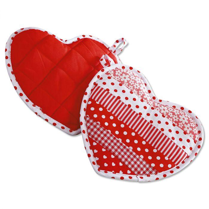 Heart-Shaped Hot Pads