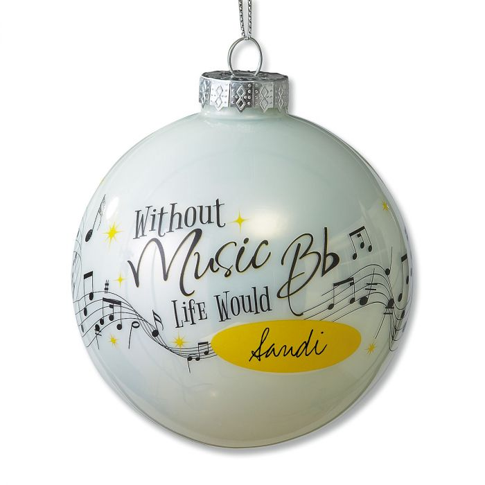 Music Personalized Christmas Ornament
