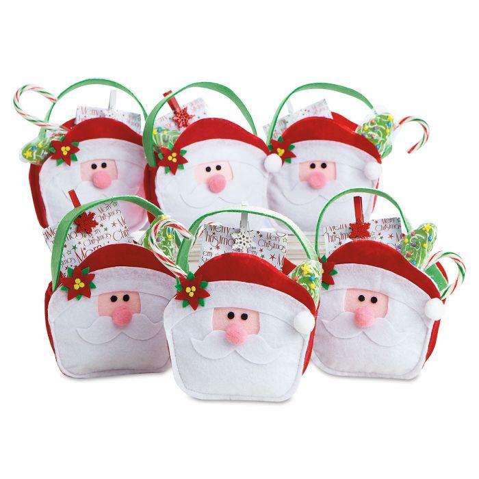 Santa Face Felt Party Treat Bags
