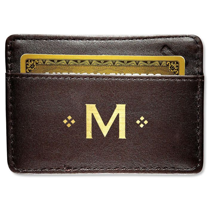 Personalized Brown Safe ID Card Sleeve