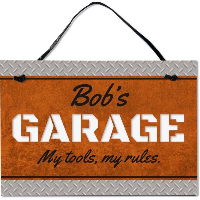 Garage Personalized Wooden Plaque