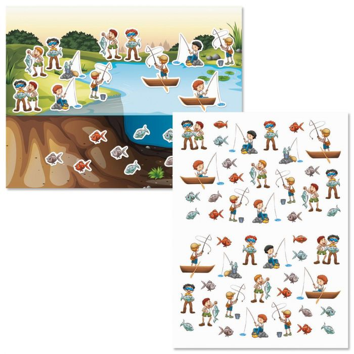 Let's Go Fishing Background Scenes and Stickers