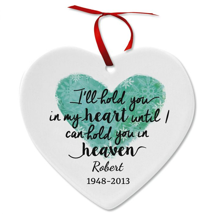 Personalized in My Heart Ceramic Ornament