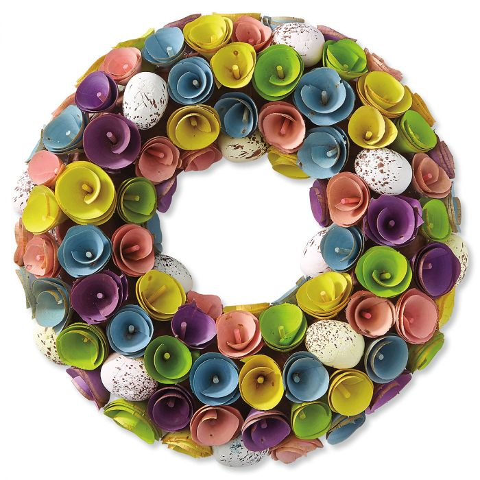 Wooden Easter Wreath