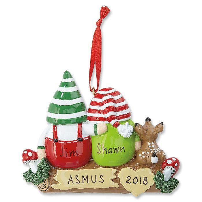 Idle Gnomes Personalized Ornaments