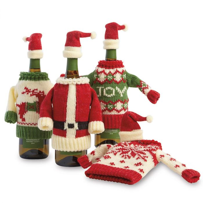 Knit Sweater and Hat Bottle Topper