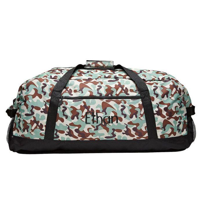 Black Camo Duffel Bags