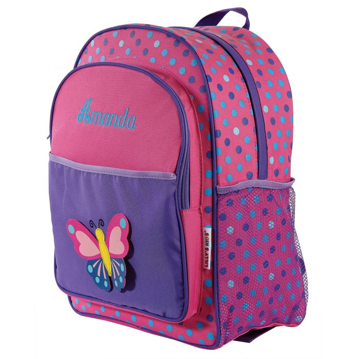 3-D Butterfly Personalized Backpack