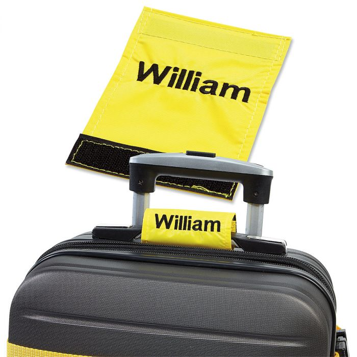 Personalized Luggage Handle Wrap - Yellow