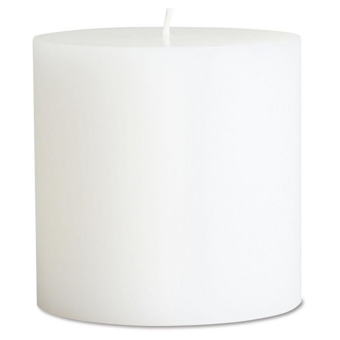 White Small Pillar Candle