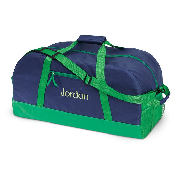 "Navy and Green Duffel Bags-23"" Duffel-808702"