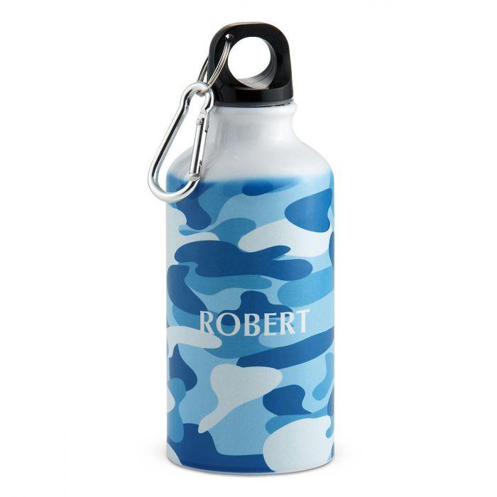 Blue Camo Water Bottle