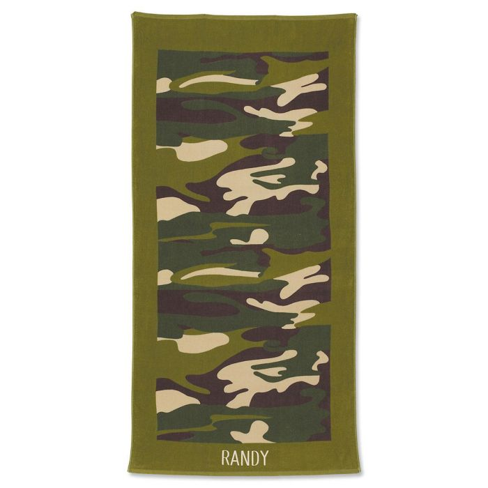 Camouflage Personalized Towel