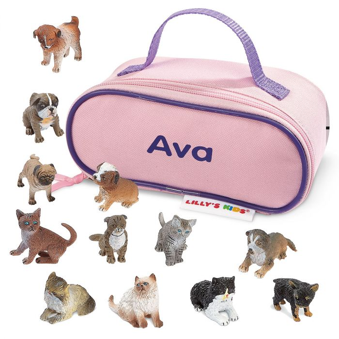 Kittens and Puppies with Case