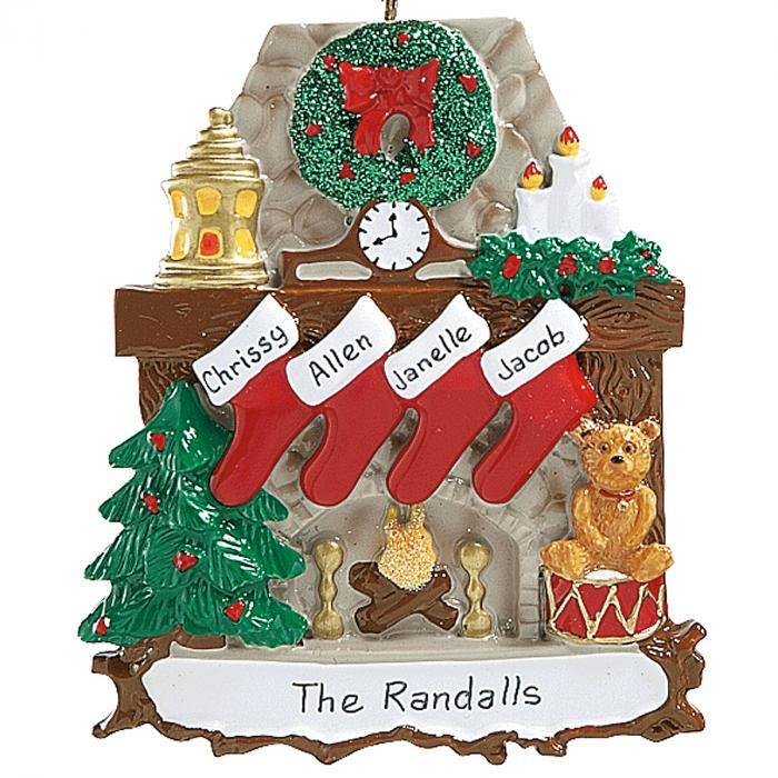 Stockings Ornaments-4 Names-810784B