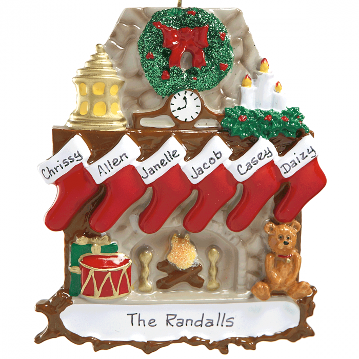 Stockings Ornaments-6 Names-810784D