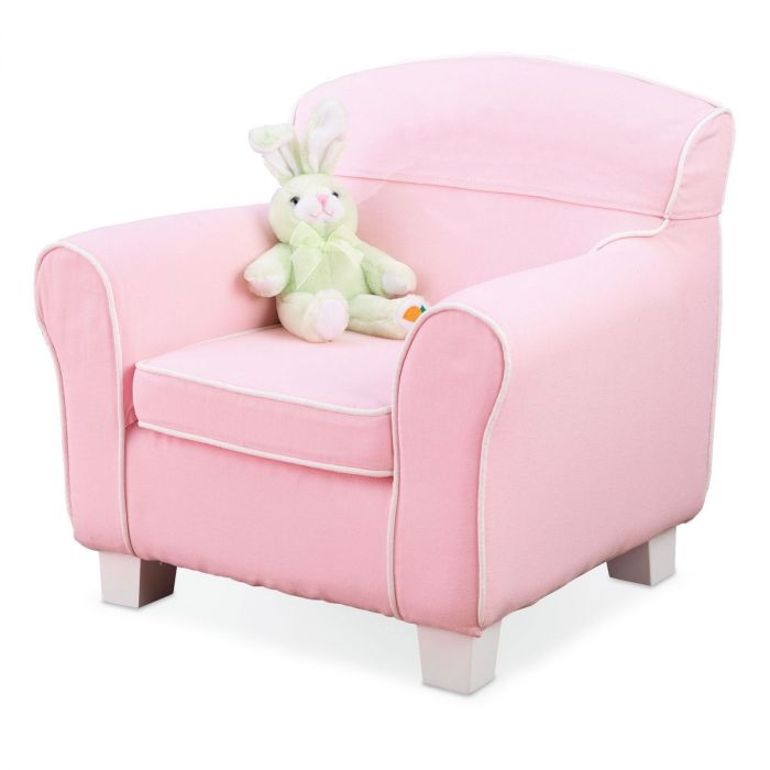 Pink Slip-Covered Laguna Chair