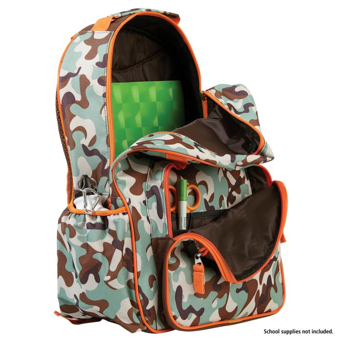 Orange/Brown Camo Personalized Backpack