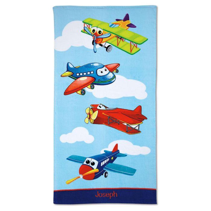 Personalized Airplane Canvas Tote Lillian Vernon