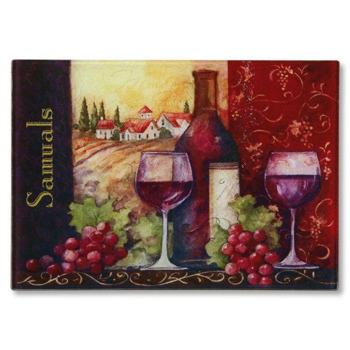 Wine Personalized Glass Cutting Board