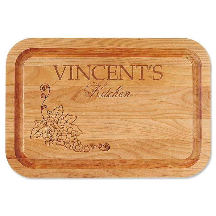 Alder Vineyard Personalized Wood Cutting Board