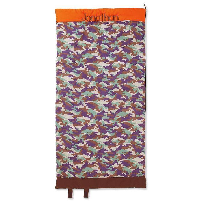 Orange/Brown Camo Sleeping Bag