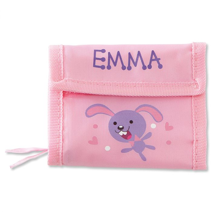 Girls Personalized Wallet-Bunny-814146E