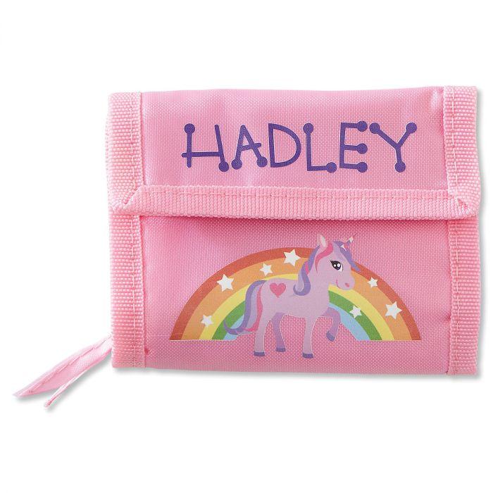 Girls Personalized Wallet-Unicorn-814146F