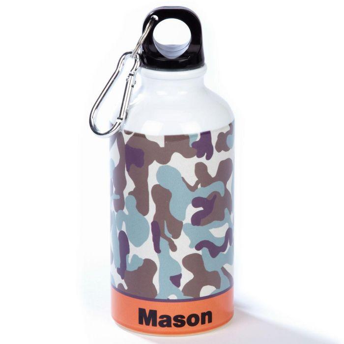 Orange/Brown Camo Water Bottle