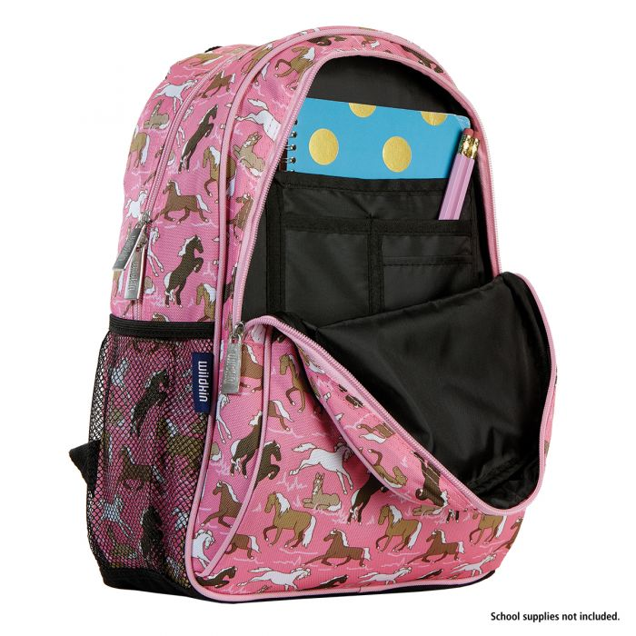 Horses on Pink Personalized Backpack