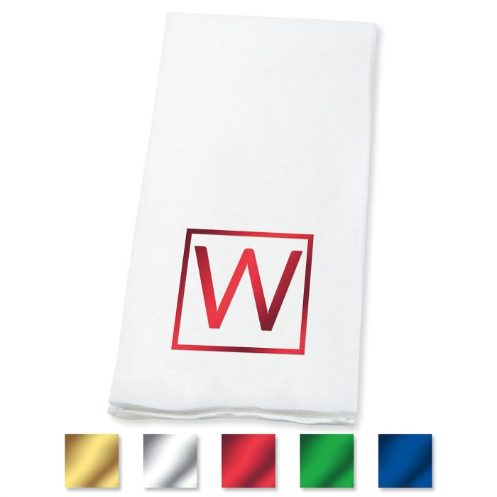 Square Initial Foil-Stamped Disposable Hand Towels