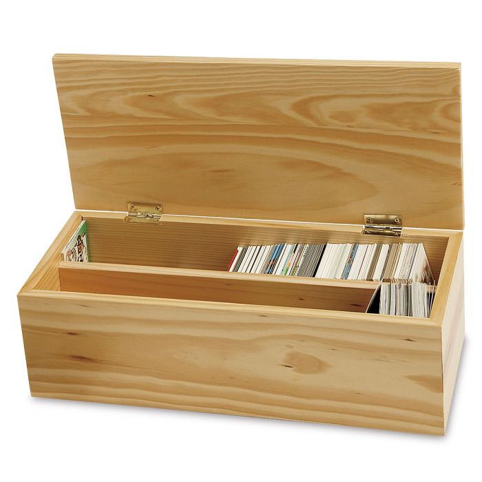 Wooden Baseball Card Storage Boxes