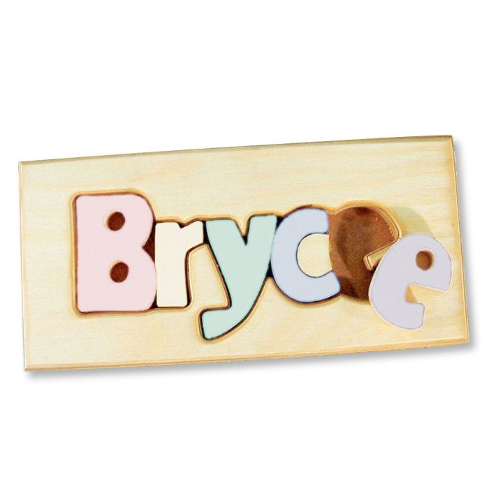 Personalized Name Board Floor Puzzle - Pastel Colors